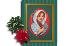 Mary, Christ Centered Christmas creche ornament cross stitch