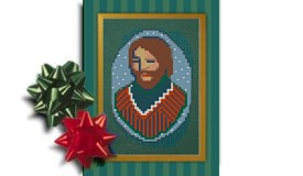 Joseph, Christ Centered Christmas creche ornament cross stitch