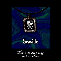 Seaside Pendant Necklace Kit counted cross stitch