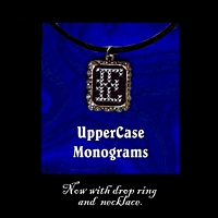 Upper Case Monograms Pendant Necklace Kit counted cross stitch craft kit