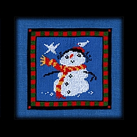 Christmas Star Snow Mom Carousel Charts counted cross stitch