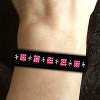 Black Bling Wristband Stackers Kit counted cross stitch craft kit