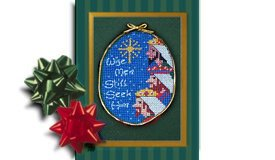 Wise Men, Christ centered Christmas creche ornament cross stitch